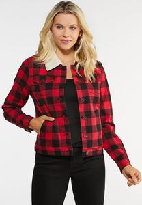 Sherpa Plaid Jacket