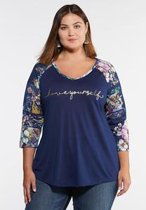 Plus Size Love Yourself Top