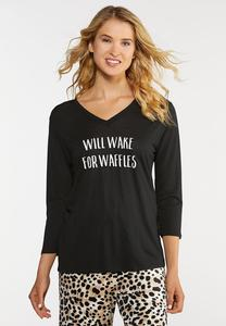 Will Wake For Waffles Sleep Tee