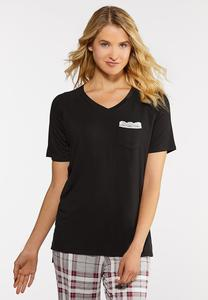Lace Pocket Sleep Tee