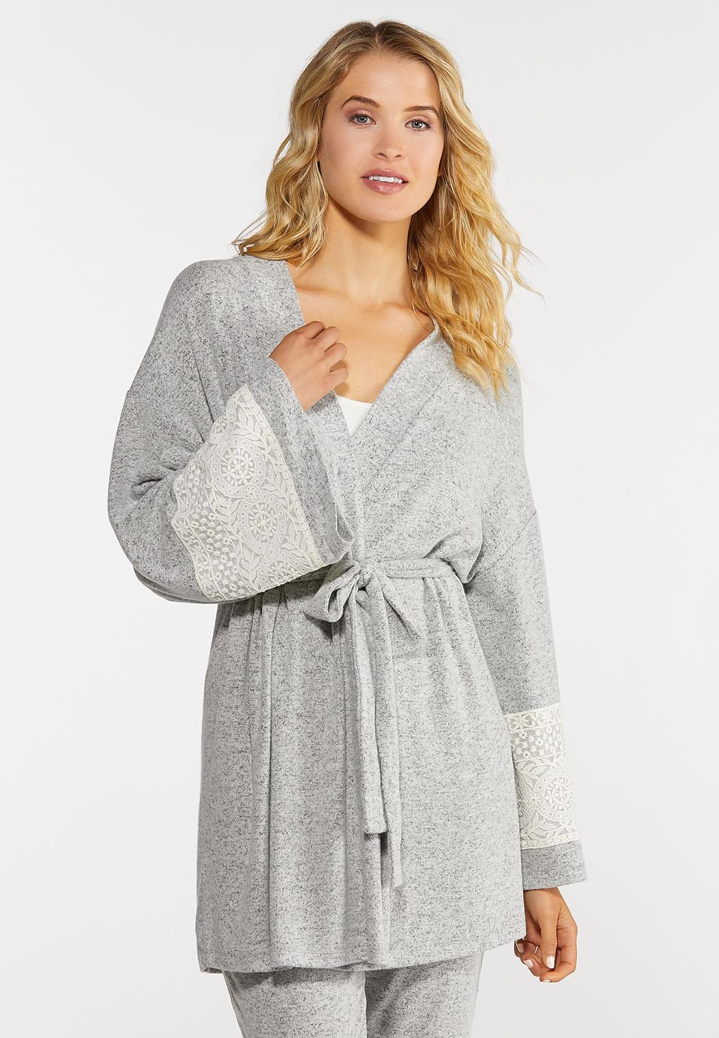 Lace Sleeve Lounge Cardigan