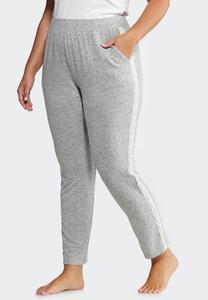 Plus Size Lace Trim Sleep Pants
