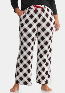Plus Size Plaid Lounge Pants