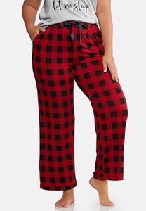 Plus Size Buffalo Plaid Lounge Pants