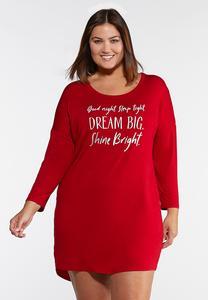 Plus Size Dream Big Sleep Shirt