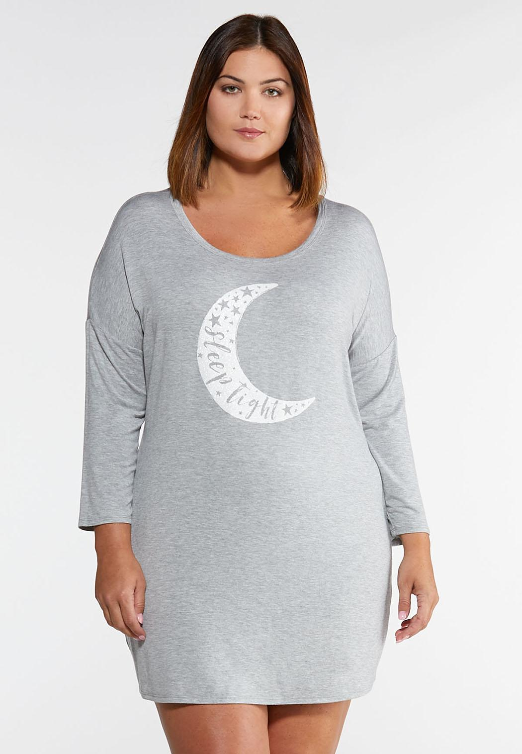 Plus Size Glitter Moon Sleep Shirt Sleep & Amp ; Lounge Cato Fashions