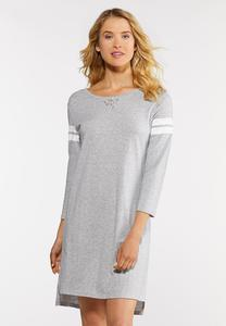 Stripe Sleeve Sleep Shirt