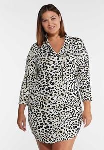 Plus Size Leopard Sleep Shirt