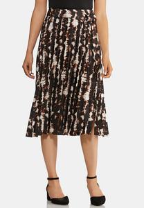 Pleated Dye Printed Skirt