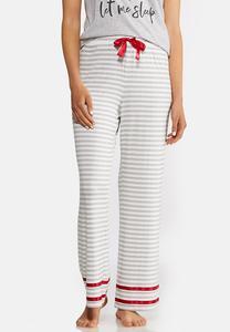 Gray Stripe Sleep Pants