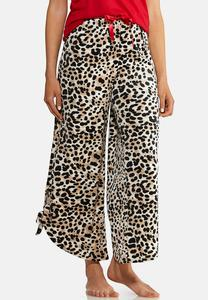Leopard Fleece Lounge Pants
