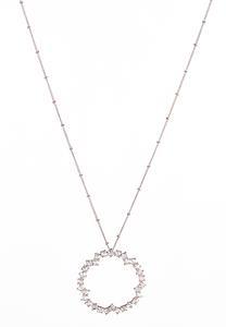 Circle Rhinestone Pendant Necklace