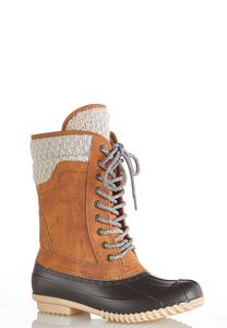 Lace Up Tall Duck Boots