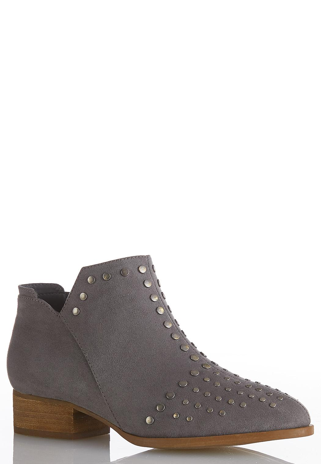 Studded Faux Suede Booties
