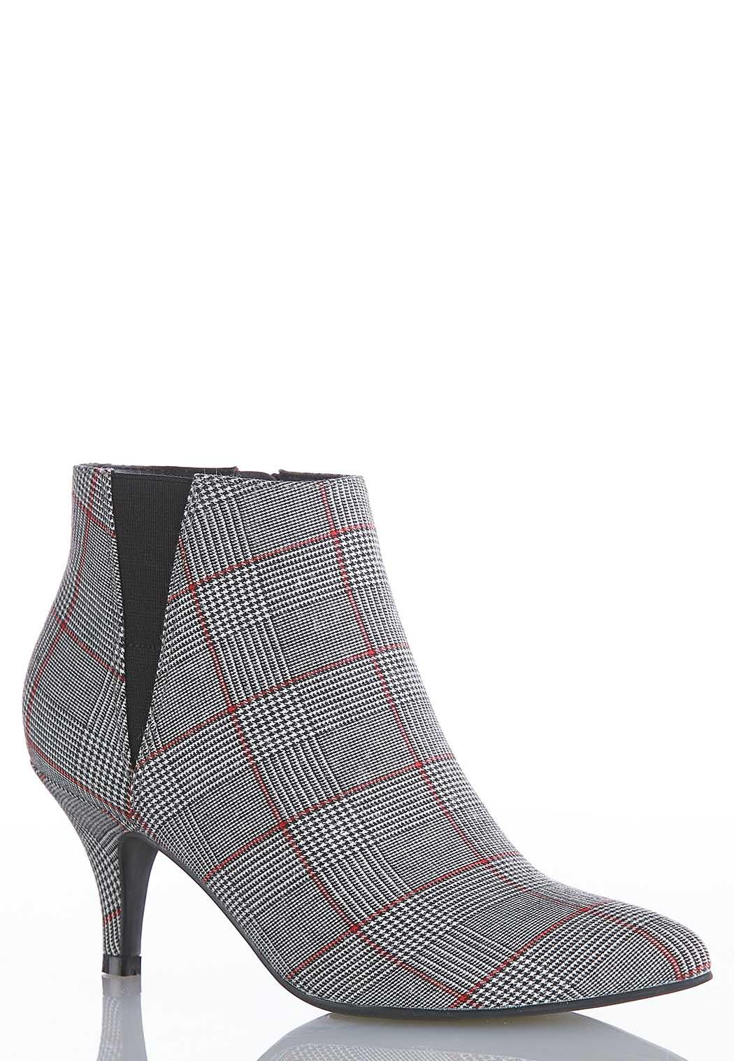 Plaid Stretch Gore Booties