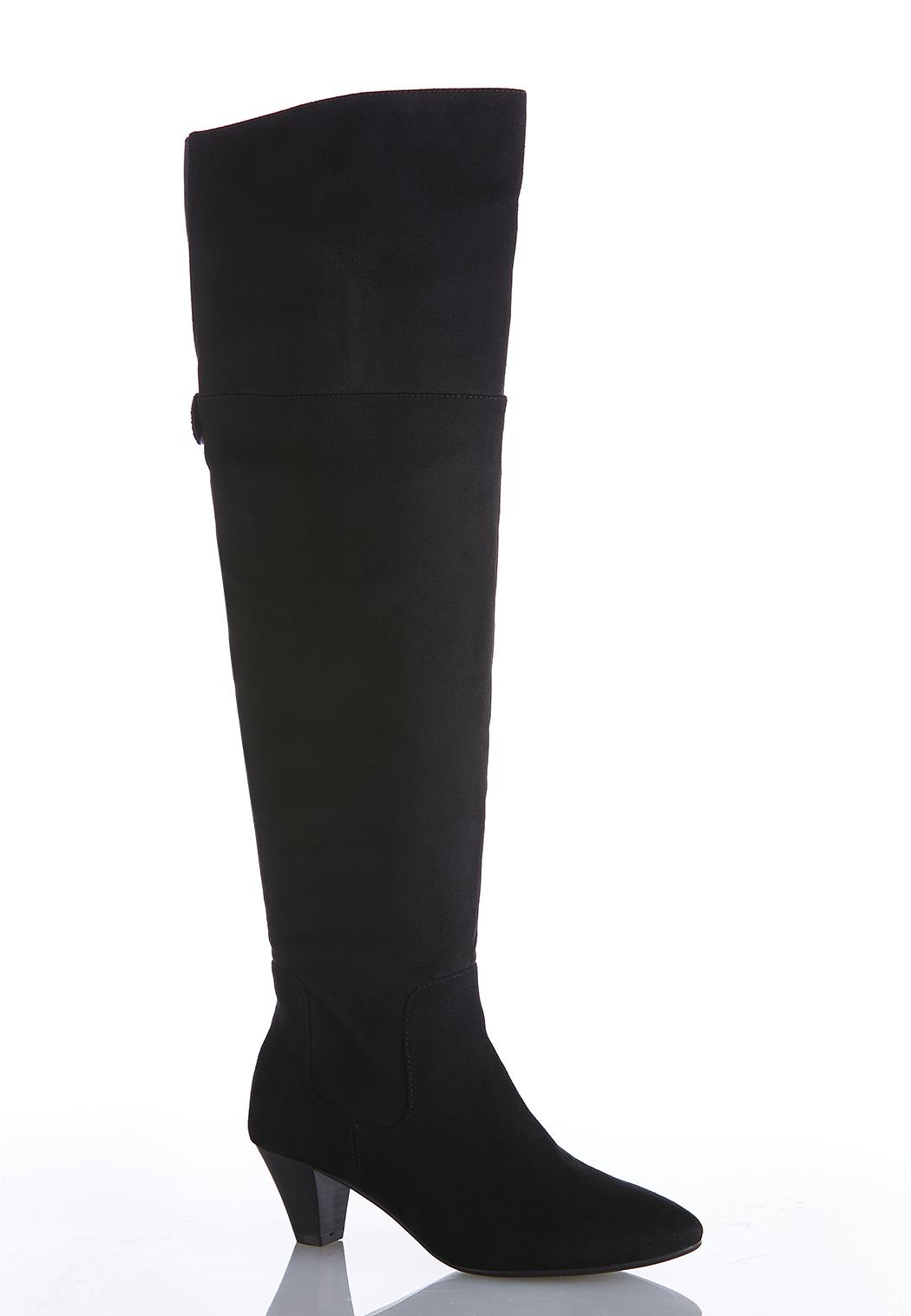Wide Width Over The Knee Heeled Boots