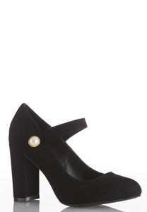 Pearl Strap Mary Jane Pumps