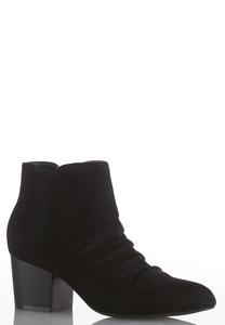 Wide Width Scrunch Vamp Ankle Boots