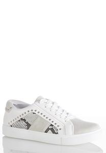 Snakeskin Detail Sneakers