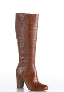 Crocodile Tall Boots