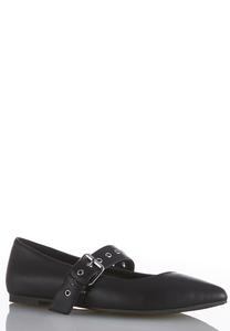 Mary Jane Buckle Flats