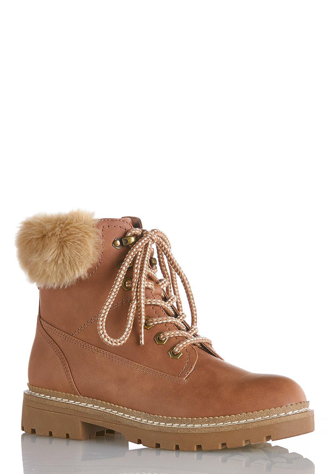 Fur Cuff Hiker Boot