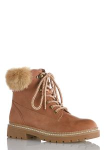 Fur Cuff Hiker Boot
