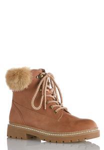 Wide Width Fur Cuff Hiker Boot
