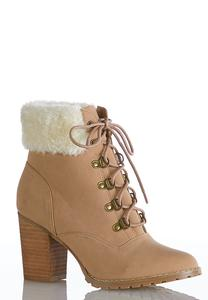 Sherpa Cuff Ankle Boots