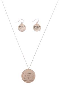Blessed Is He Pendant Necklace Set