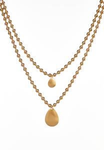 Layered Brushed Metal Necklace
