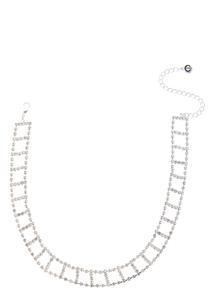 Cutout Rhinestone Choker Necklace