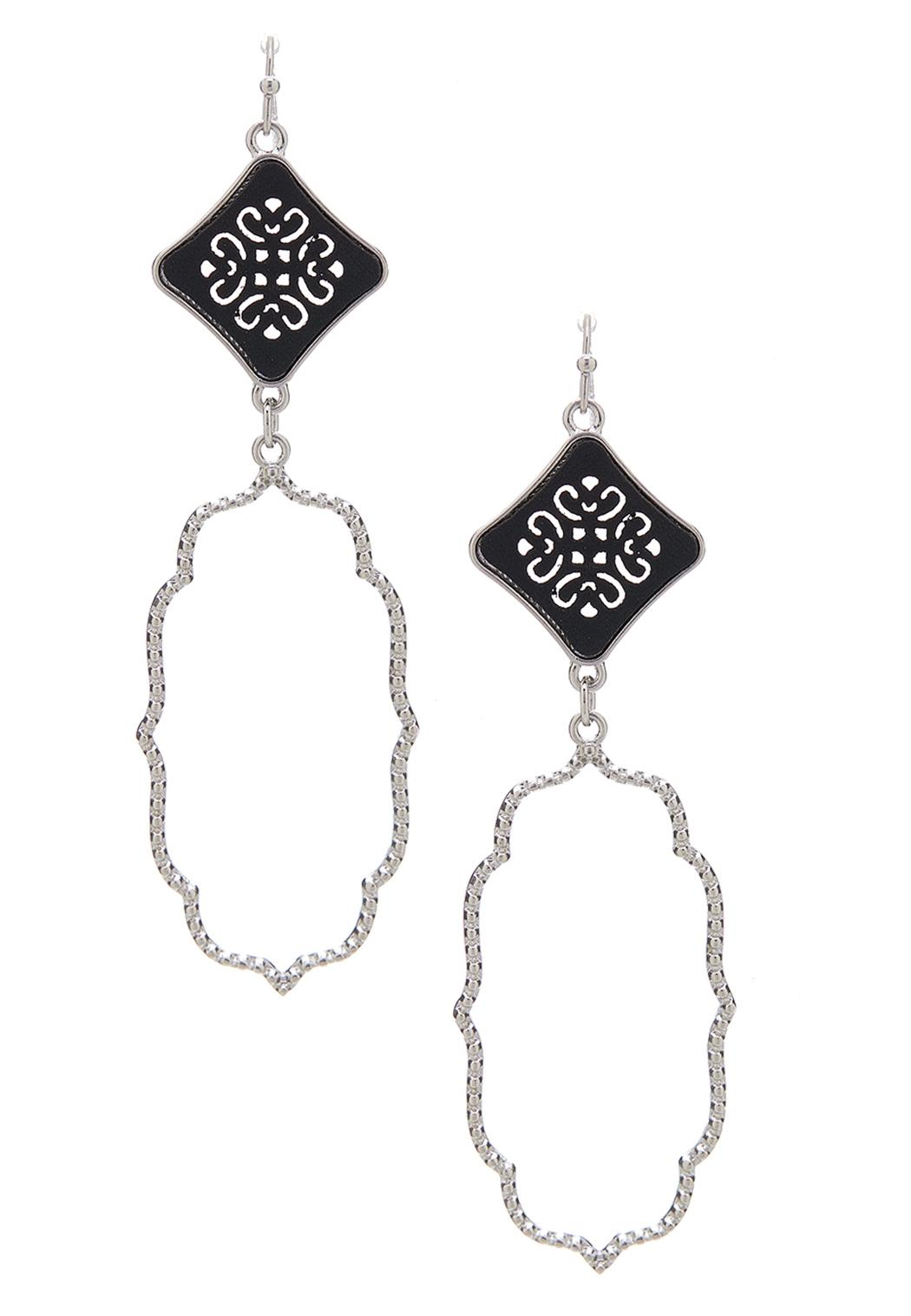 Diamond Shaped Moroccan Earrings