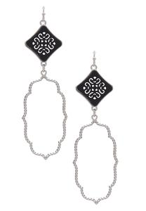 Diamond Shaped Moroccan Earrings