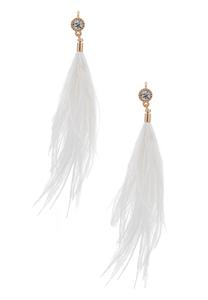 Wispy Stone Feather Earrings