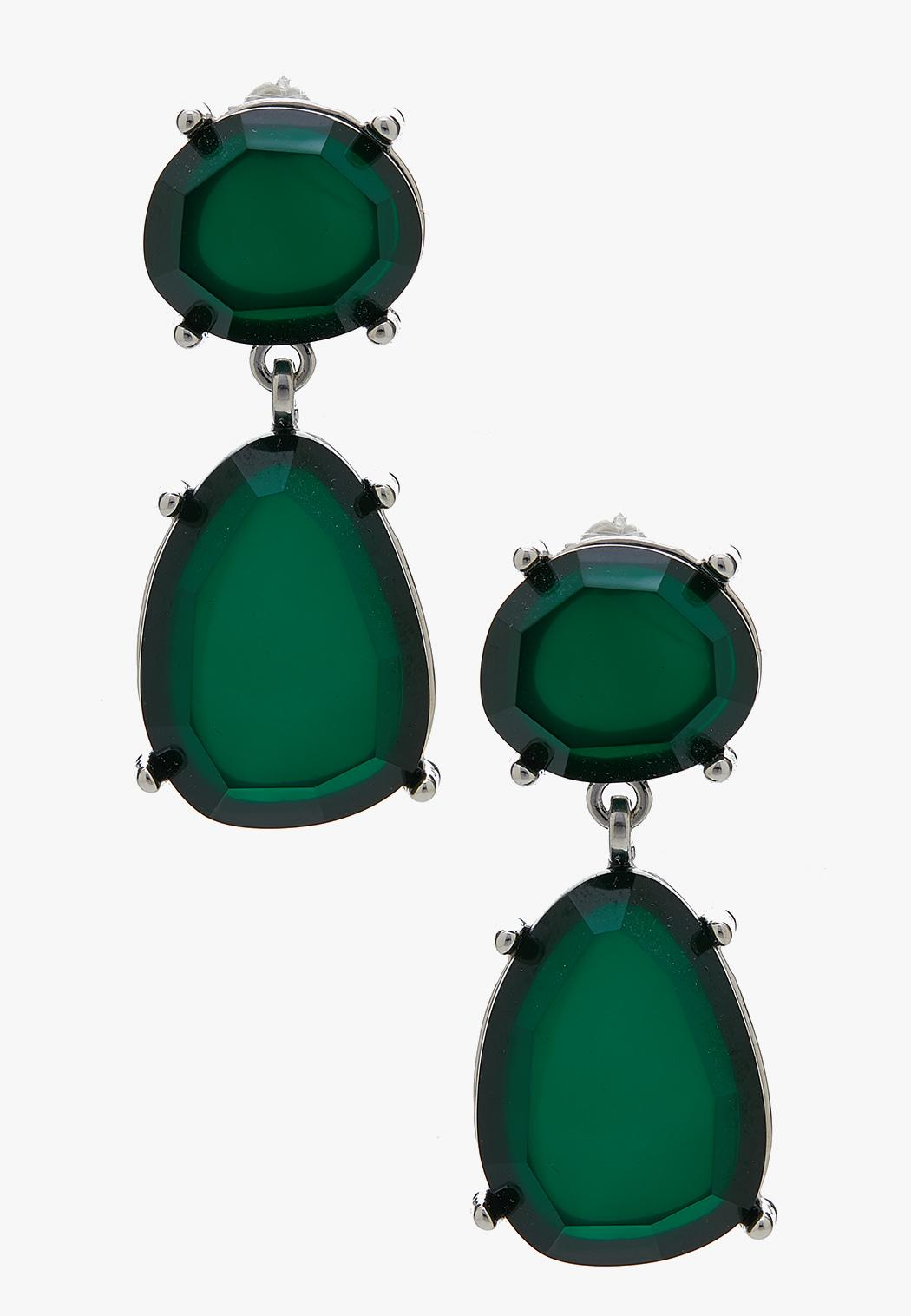 Irregular Shape Stone Earrings