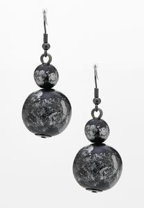 Tiered Marbled Ball Earrings