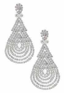 Glitzy Tear Shaped Earrings