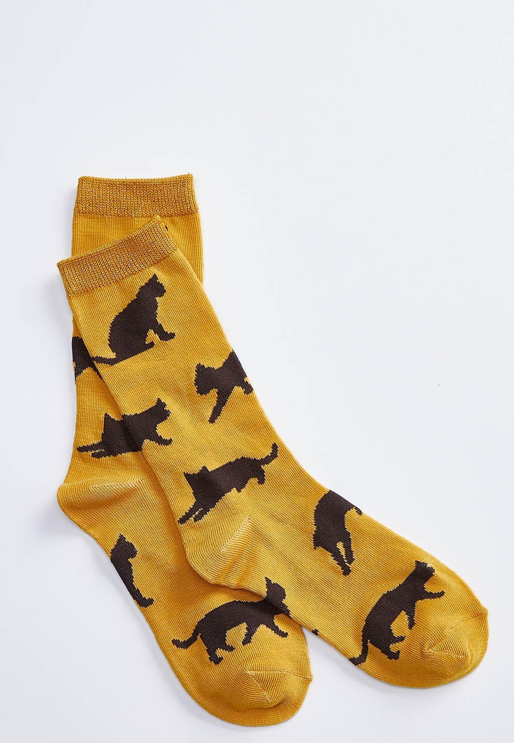 Cat Silhouette Socks