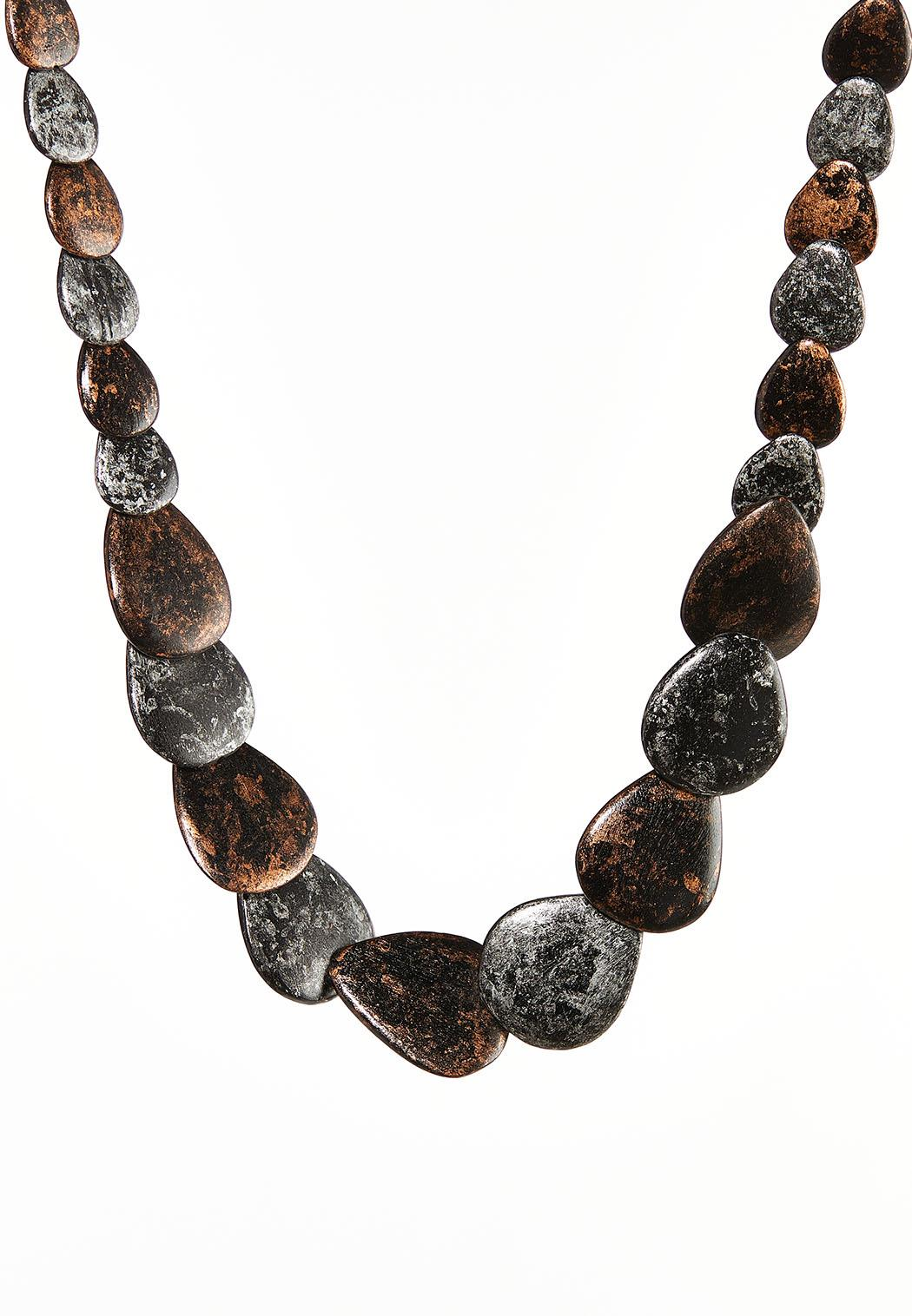 Graduated Wood Necklace
