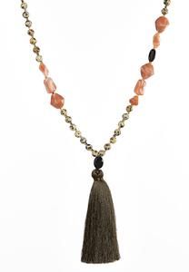 Earth Tone Tassel Necklace