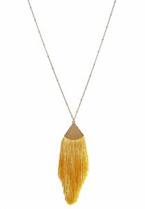 Triangle Tassel Pendant Necklace