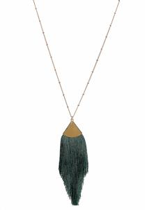 Triangle Tassel Pendant Necklace