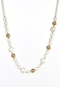 Ivory And Gold Necklace