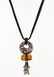Animal Pendant Cord Necklace