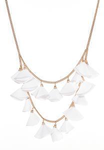 Fabric Petal Necklace