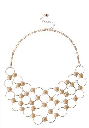 Circle And Dot Bib Necklace