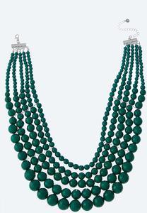 Layered Bead Bib Necklace