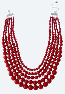 Layered Bead Bib Necklace