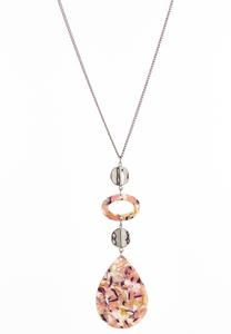 Speckled Blush Lucite Necklace